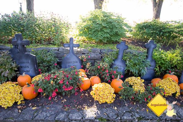 Jardin Jeanne-d'Arc (o Jardim de Joana D'Arc) se preparando para o Halloween. Québec City, Québec. Imagem: Erik Araújo