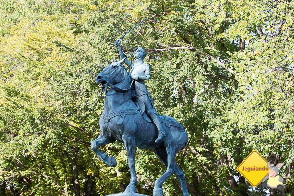 Parc des Champs-de-Bataille e Jardin Jeanne-d'Arc (o Jardim de Joana D'Arc). Québec City, Québec. Imagem: Erik Araújo