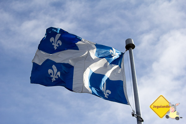 Bandeira de Québec. Imagem: Erik Araújo