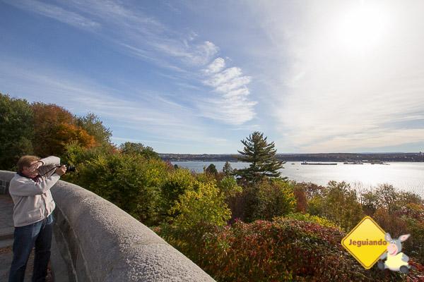 Vista para o Rio São Lourenço, a partir das Plaines d'Abraham. Québec City, Québec. Imagem: Erik Araújo