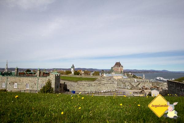Vista a partir da Citadelle de Québec. Québec City. Imagem: Erik Araújo