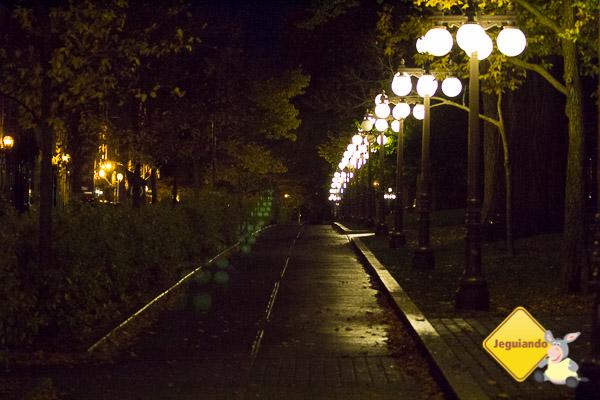 Rua de Québec City à noite. Imagem: Erik Araújo