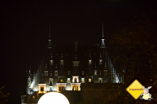 Québec City à noite. Imagem: Erik Araújo