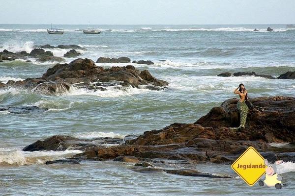 O mar e Iemanjá. Imagem: Janaína Calaça