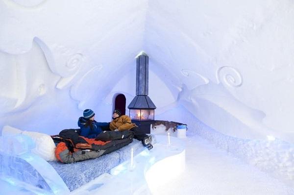Hotel de gelo, em Québec City. Imagem: ©Canadian Tourism Commission