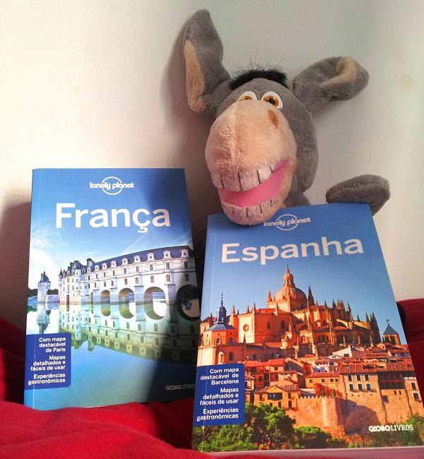 Jegueton e os novos Guias Lonely Planet da França e Espanha. Imagem: Janaína Calaça