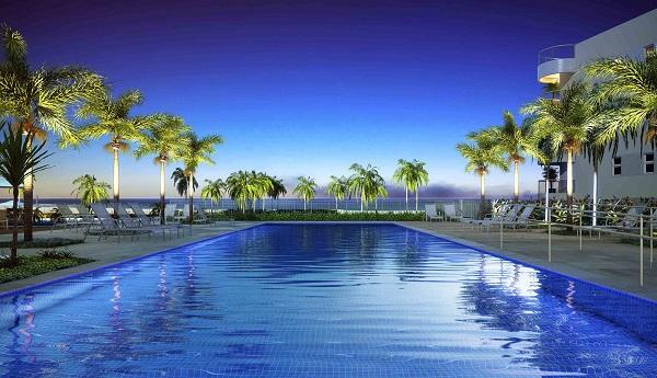 Piscina (raia) do In Mare Bali com vista para a Praia do Cotovelo. Imagem: Divulgação