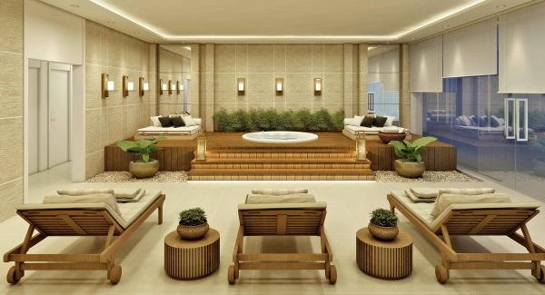 Spa do In Mare Bali, novo empreendimento da Cyrela Plano & Plano. Imagem: Divulgação
