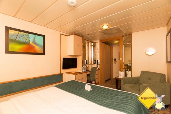 Nossa cabine no Splendour of the Seas. Royal Caribbean. Imagem: Erik Araújo