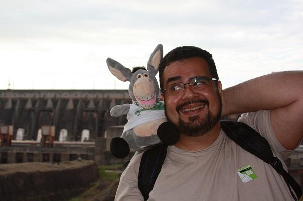 Jegue e Erik em Foz do Iguaçu. Imagem: Janaína Calaça