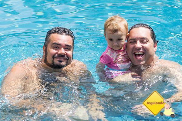 Erik, Giovana e Márcio, do blog A Janela Laranja. Imagem: Janaína Calaça