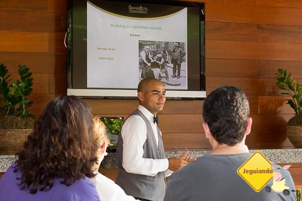 Workshop de caipirinhas especiais. Imagem: Erik Araújo