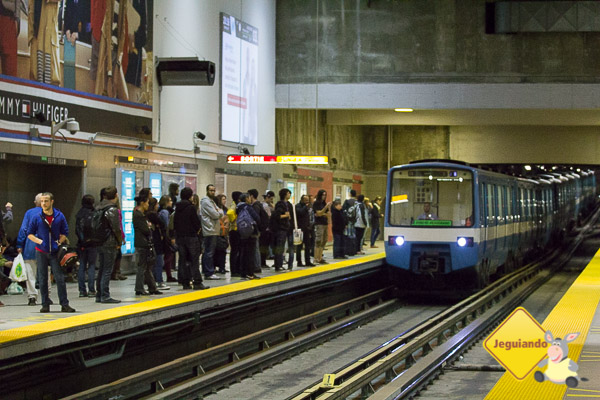 Metrô em Montréal. Québec. Imagem: Erik Araújo