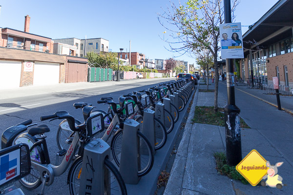 Aluguel de bicicletas em Montréal. Imagem: Erik Araújo