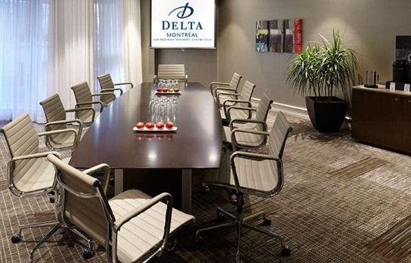Sala de reuniões. Delta Montréal. Imagem: Divulgação