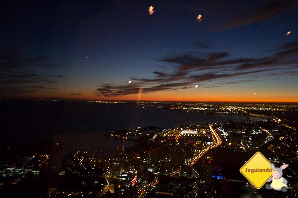 Vista do Restaurante 360º. CN Tower. Toronto, Ontário. Imagem: Erik Araújo