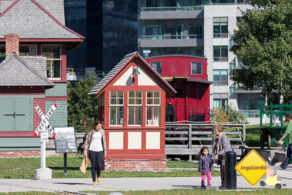 Museu a céu aberto abriga trens de companhias canadenses. Imagem: Erik Araújo