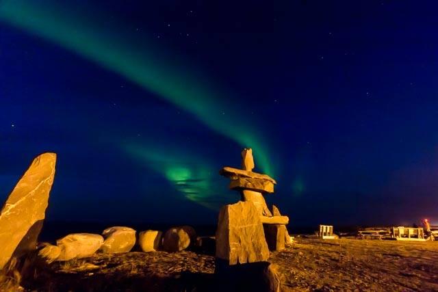 Aurora boreal em Churchill, Manitoba. Imagem: Erik Araújo