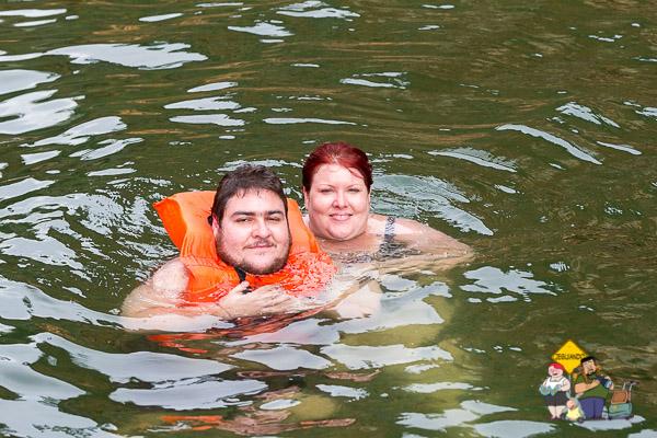 Nando, meu irmão, e eu no Cânion do Xingó. Imagem: Erik Araújo