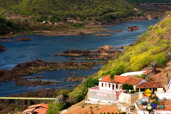Piranhas vista do Mirante Secular. Imagem: Janaína Calaça