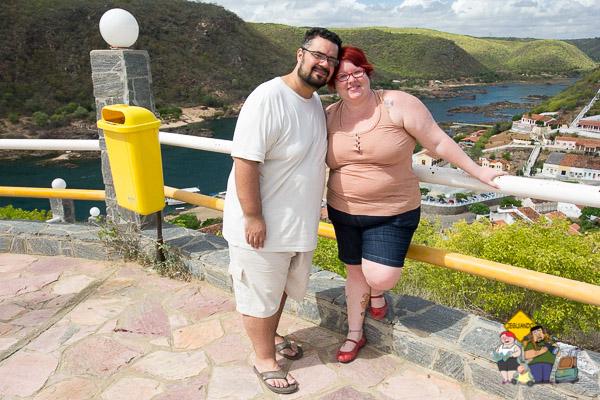 Erik e eu em Piranhas. Imagem: Luiz Fernando Calaça