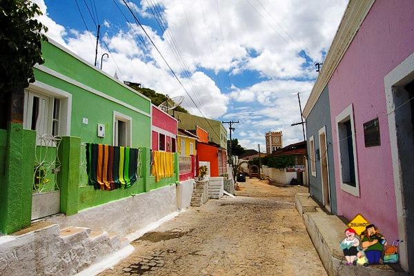 O colorido das casinhas de Piranhas, AL. Imagem: Erik Araújo