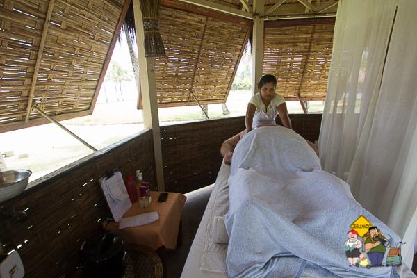 Marília Bispo, a massoterapeuta que cuidou de nós em nossa estadia. Imagem: Janaína Calaça