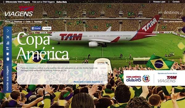 Hot site TAM Copa América.