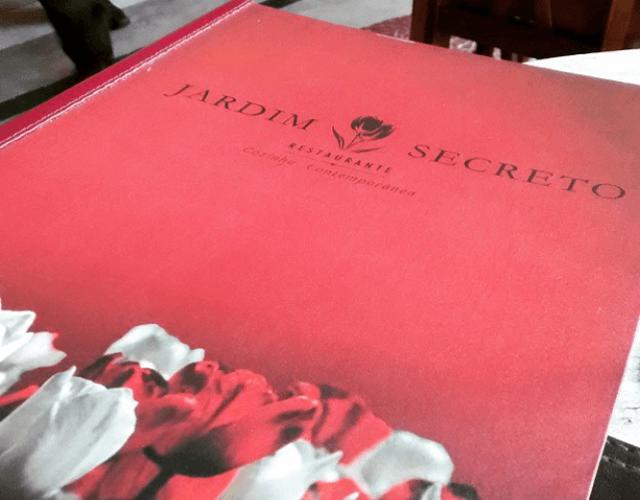 Cardápio do Jardim Secreto Restaurante. Imagem: Erik Araújo