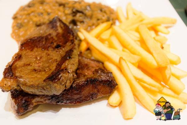 Picanha e fritas. Imagem: Erik Araújo