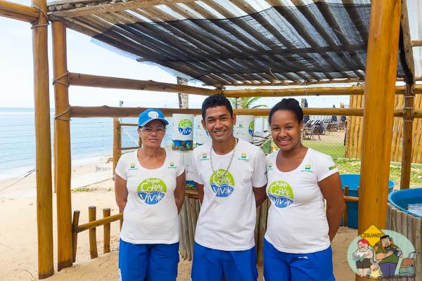 Orientadores do Projeto Coral Vivo. Imagem: Erik Araújo