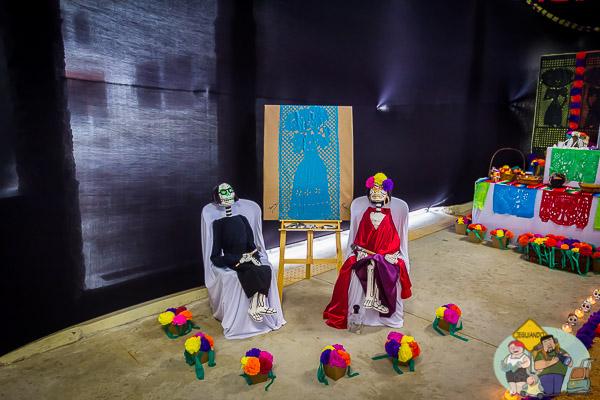 Las Catrinas de Tomie Ohtake e Frida Kahlo. Imagem: Erik Araújo