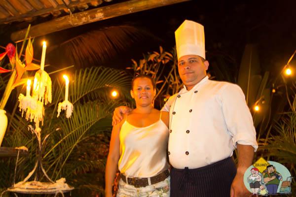 Chef Oliveira e sua esposa. Imagem: Erik Araújo