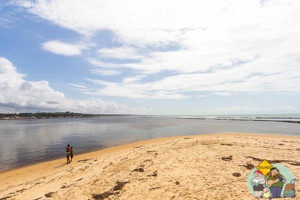 Praia do Ponta do Apaga Fogo, foz do Rio Buranhém. Imagem: Erik Araújo