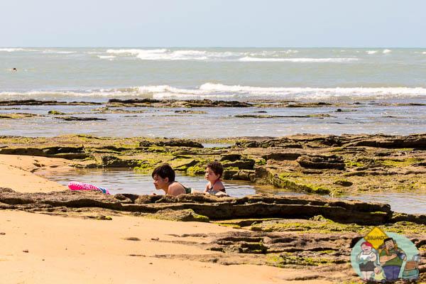 Águas quentes do litoral baiano. Imagem: Erik Araújo