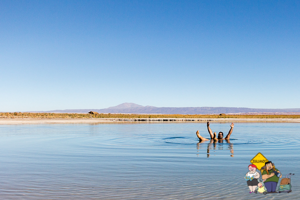 Laguna Piedra, hipersalina. Imagem: Adriana Stadella