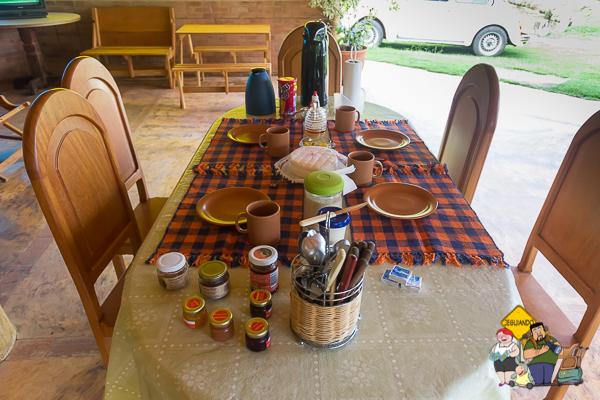 Café da Manhã do Tocas do Lago Bed & Breakfast. Imagem: Erik Araújo