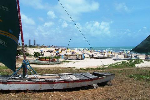 Praia de Boa Viagem, Recife, Pernambuco. Imagem: Arquivo Jeguiando