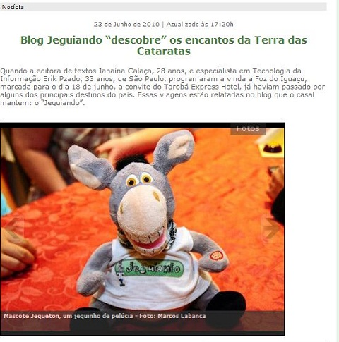 Jeguiando é entrevistado no Portal H2Foz, de Foz do Iguaçu.