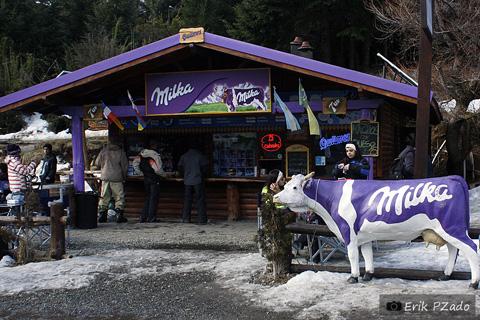 Loja da Milka em Bariloche, Argentina. Imagem: Erik Pzado.