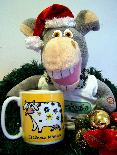 Feliz Natal! São os votos do Jegueton e da Vaquinha Mimosa!