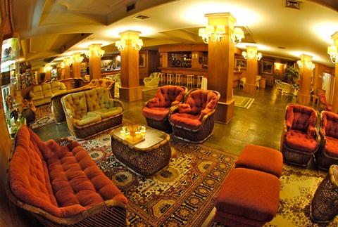 Recepção do Hotel Bella Itália, Foz do Iguaçu, PR. Imagem: Divulgação Hotel Bella Itália